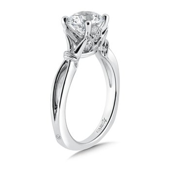Inspired Vintage Collection Solitaire Engagement Ring in 14K White Gold with Platinum Head (1-1/2ct. tw.)