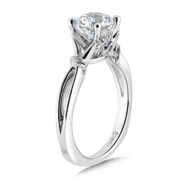 Caro74 Inspired Vintage Collection Solitaire Engagement Ring in 14K White Gold with Platinum Head (1-1/2ct. tw.)