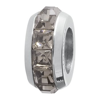 316L stainless steel and greige Swarovski® Elements crystals