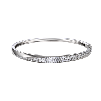 14K Bangle with 122 Diamonds 0.93C