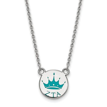 Sterling Silver Zeta Tau Alpha Greek Life Necklace