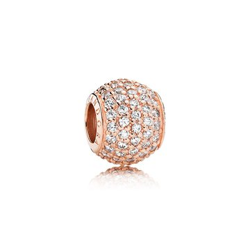 Pavé Lights, Pandora Rose™ Clear Cz