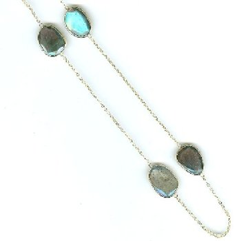 Labradorite Station Necklace