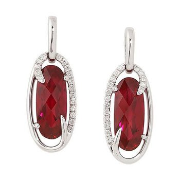 Ruby Earrings-CE3094WRU