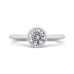 Promezza 14K White Gold Round Diamond Classic Engagement Ring
