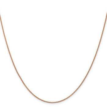 Leslie's 14K Rose Gold 1mm D/C Open Franco Chain