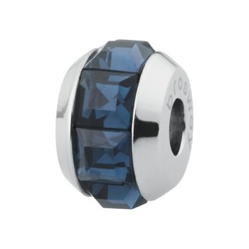 316L stainless steel and blue montana Swarovski® Elements crystals.