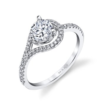 MARS 26531 Diamond Engagement Ring 0.21 Ctw.