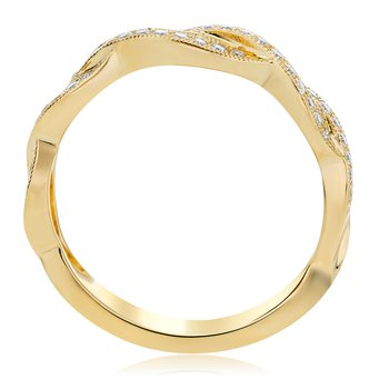 Overlapping Yellow Gold Band