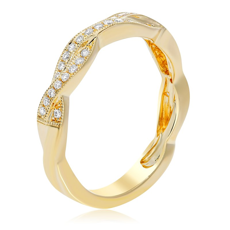 Roman & Jules Overlapping Yellow Gold Band
