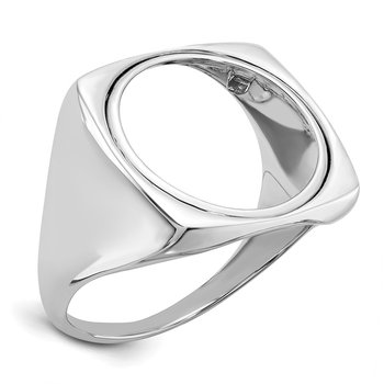 14kw 1/10AE Polished Coin Ring