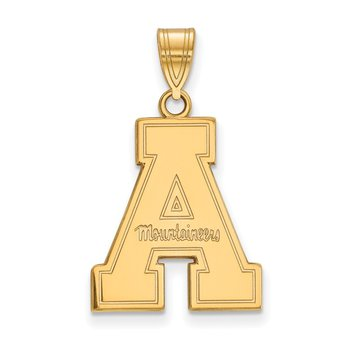 Gold-Plated Sterling Silver Appalachian State University NCAA Pendant