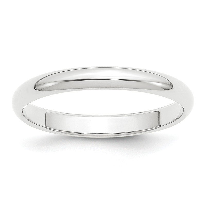 Quality Gold Platinum 3mm Half-Round Wedding Band