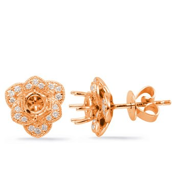 Rose Gold Diamond Earring for .66cttw