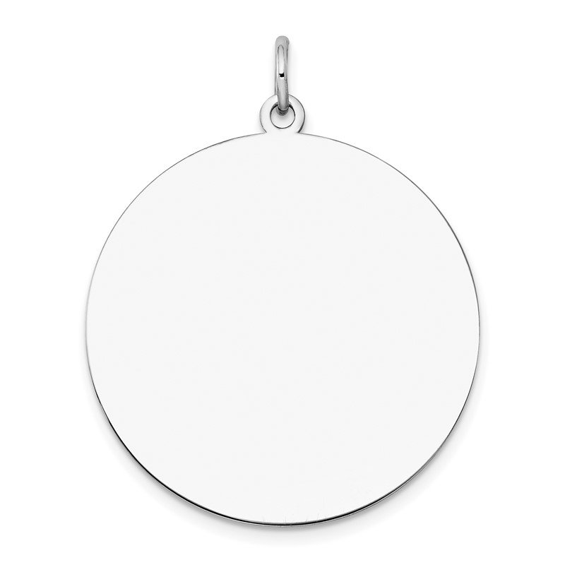Quality Gold 14k White Gold Plain .013 Gauge Round Engravable Disc Charm