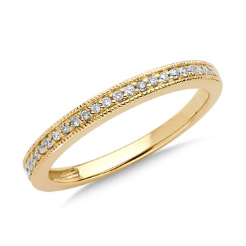 Pave set Diamond Stackable Ring in 10k Yellow Gold (1/10ct. tw.)