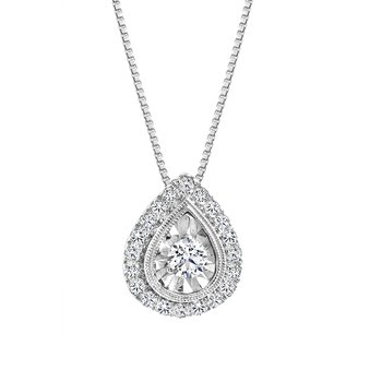 Pear Design Diamond Accent Pendant