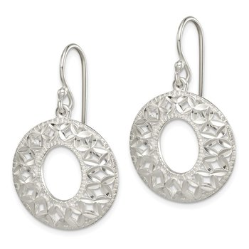 Sterling Silver Diamond-cut X Dangle Earrings