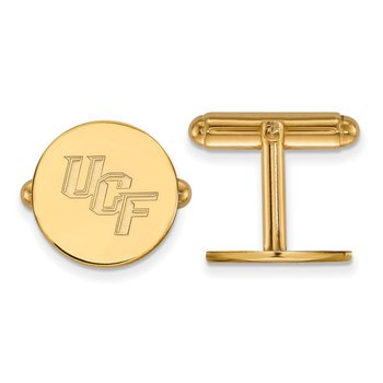 Gold University of Central Florida NCAA Cuff Links