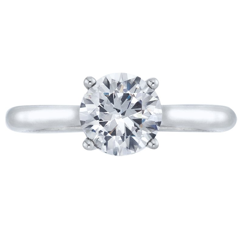 Mark Patterson Four Prong Solitaire Engagement Ring