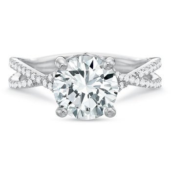 18K White gold Semi Mount for 1.00.00-2.50 ct center