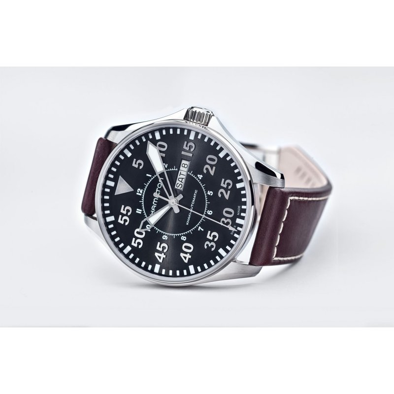 Hamilton Hamilton Khaki Aviation Pilot Day Date Auto - 46mm XL Black