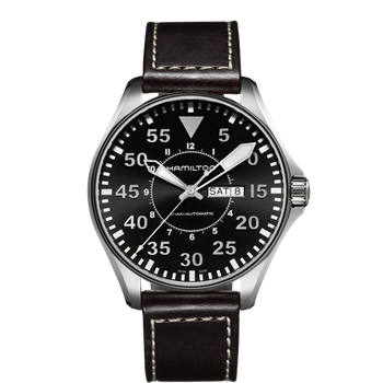 Hamilton Khaki Aviation Pilot Day Date Auto - 46mm XL Black