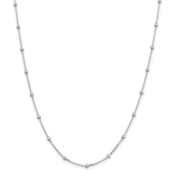Sterling Silver 1.3mm Fancy Beaded Chain