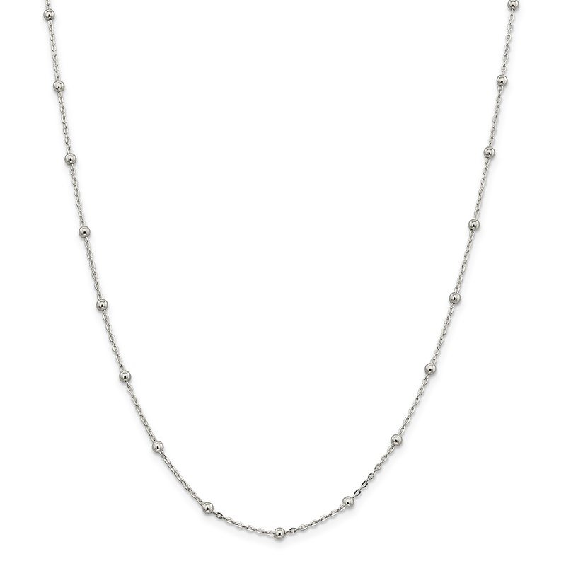Quality Gold Sterling Silver 1.3mm Fancy Beaded Chain