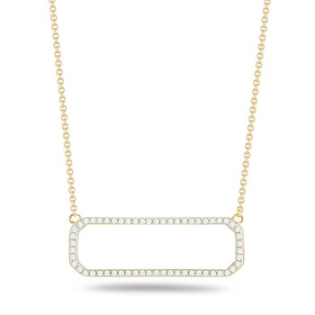 Geometric shaped pendant in 14K and diamonds  0.35ct.