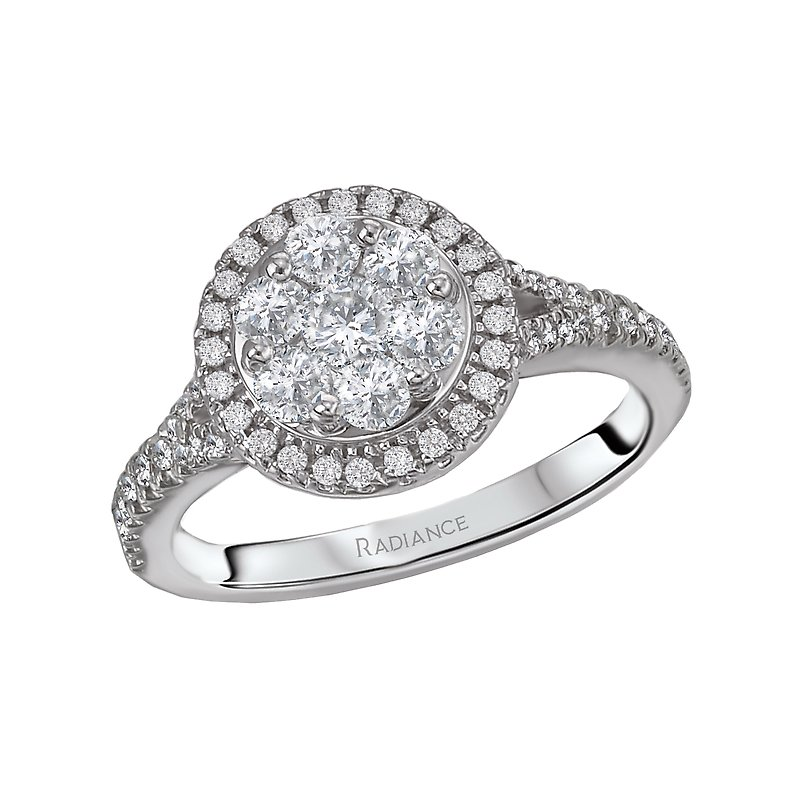 LaVie Halo Cluster Diamond Ring