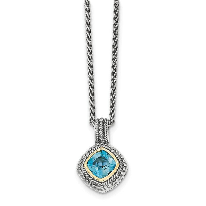 Shey Couture Sterling Silver w/14k London Blue Topaz Necklace