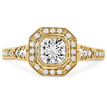 0.3 ctw. Deco Chic DRM Halo Engagement Ring