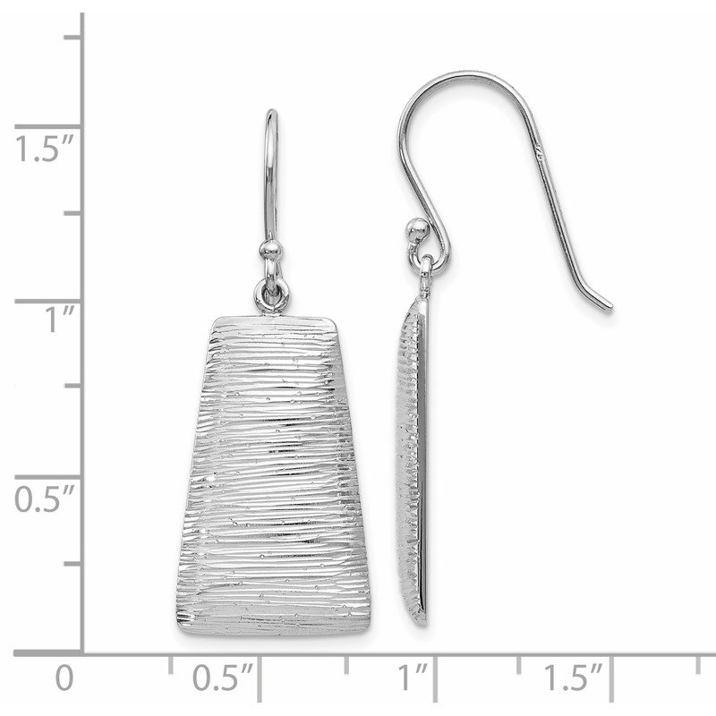 Leslie's Leslie's Sterling Silver Radiant Essence Shepherd Hook Earrings