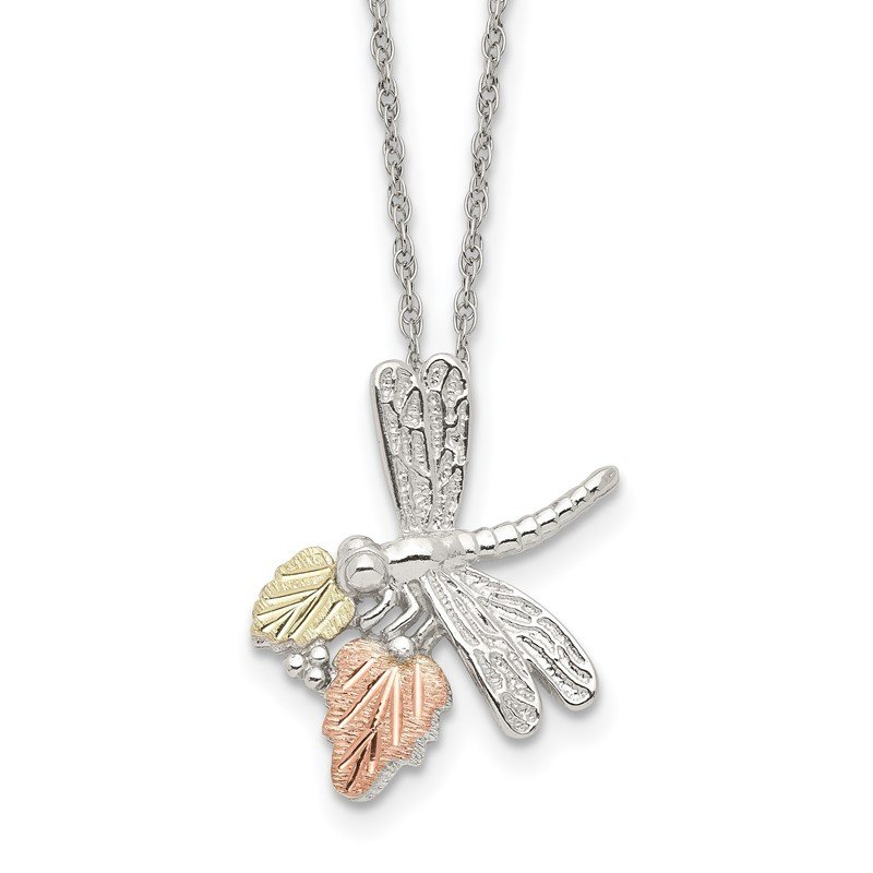 Quality Gold Sterling Silver & 12K Dragonfly Necklace