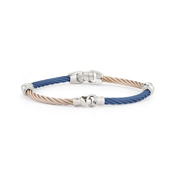 Blueberry & Carnation Cable Interlocking Bracelet