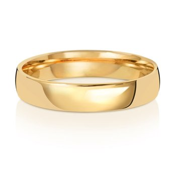18Ct Yellow Gold 4mm Slight Court Wedding Ring
