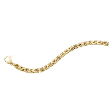 14K Gold Fancy Round Curb Chain