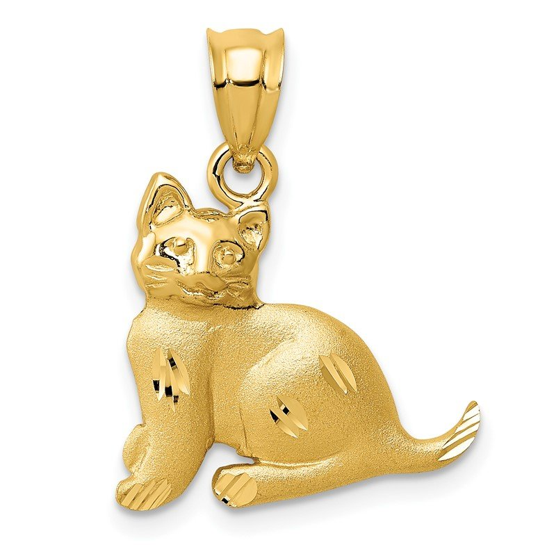 Arizona Diamond Center Collection 14k Cat Charm