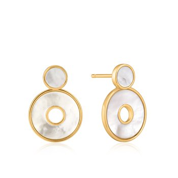 Mother Of Pearl Disc Ear Jackets