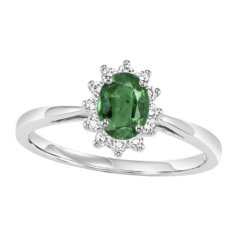 Mixables 14K Emerald & Diamond Ring