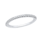 Promezza 14K White Gold Round Diamond Half-Eternity Wedding Band