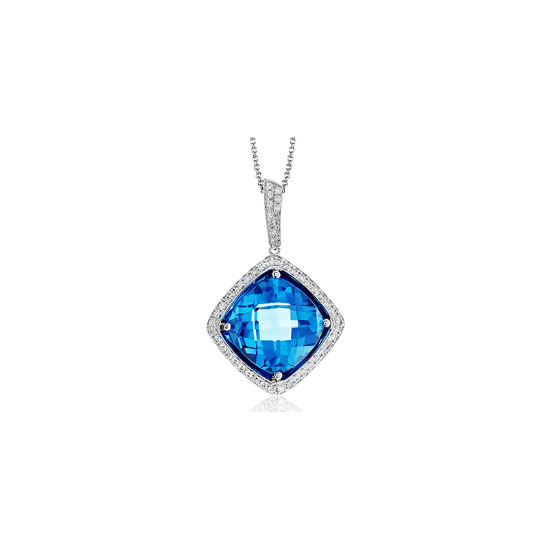 Zeghani ZP782 COLOR PENDANT