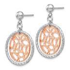 Leslie's Leslie's Sterling Silver Rose-tone Flash-plated Post Dangle Earrings