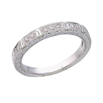 14K White Gold Bridal Princess Diamond Ring Band
