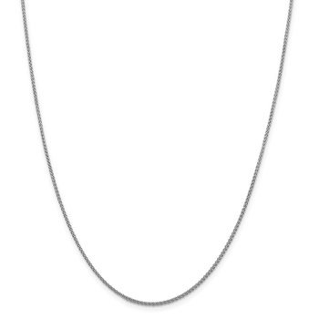 Leslie's 10K White Gold 1.5mm D/C Wheat Chain