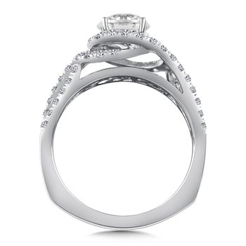 Diamond Engagement Ring Mounting in 14K White/Rose Gold (.57 ct. tw.)