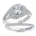 Valina Diamond Engagement Ring Mounting in 14K White/Rose Gold (.57 ct. tw.)