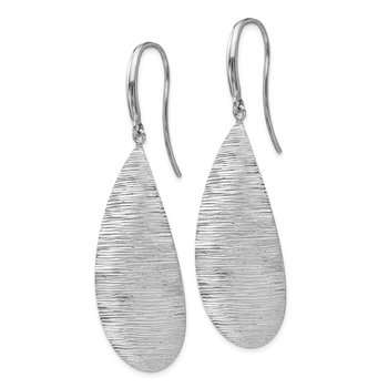 Leslie's Sterling Silver Polished and Textured Dangle Earrings
