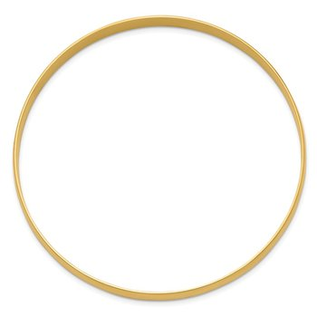 14k 6mm Solid Polished Half-Round Slip-On Bangle